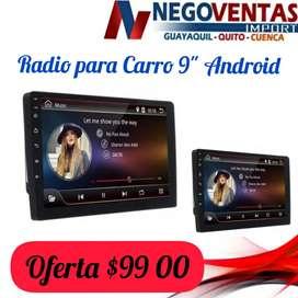 RADIO DE CARRO ANDROID 9 PULGADAS