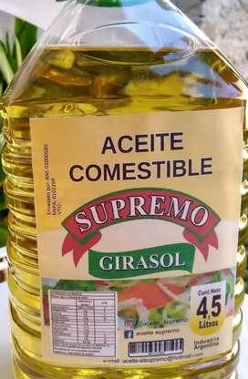 ACEITE GIRASOL Y SUPREMO 4.5 litros