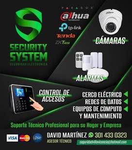 INSTALACION  Y SERVICIO TECNICO DE CAMARAS DE SEGURIDAD,ALARMAS,CONTROL DE ACCESOS,MANTENIMIENTO DE COMPUTADORES,REDES.