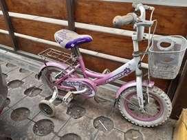 Bicicleta para niña pequeña.