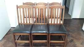 sillas guatambu x6 unidades