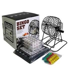 Bingo Familiar Balotera Metalica