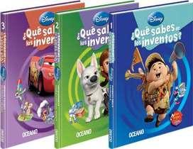 Disney ¿Qué Sabes De Los Inventos? 3 libros Importados