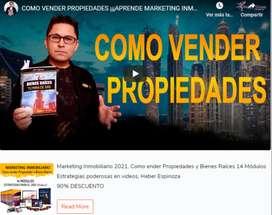 Curso poderoso Marketing Inmobiliario 2021, Como vender Propiedades y Bienes Raíces