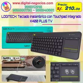 Teclado inalámbrico con Touchpad integrado marca LOGITECH