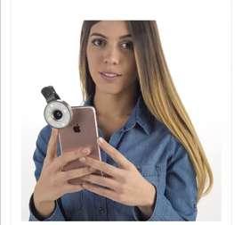 Set de lentes con luz selfie