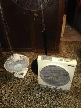 2 ventiladores andando el precio es x unidad