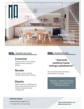 Arquitectura, adecuación de locales comerciales y licencias de construcción