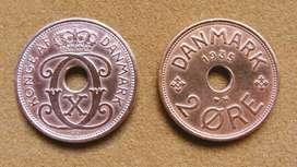 Moneda de 2 öre Dinamarca 1935