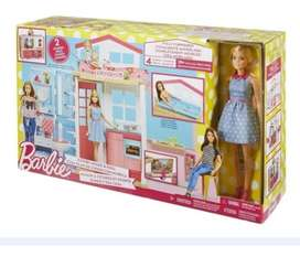 Barbie Casa Glam Mansión 2 Pisos Muñecas Juguete Niña Sueños