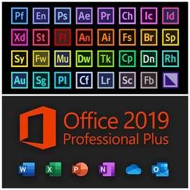 Instalo office 2019 y programas de Adobe (permanente actualizable)
