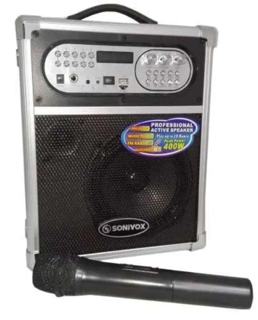 Parlante Portátil Bluetooth 1455 Micrófono Inalámbrico