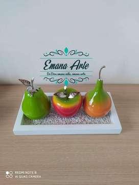 Fruteros Centros de mesa en madera decoración hogar*