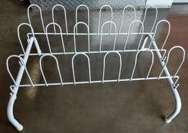 Organizador para zapatos a la entrada de casa  y/o closet secar,  Práctico y desarmable Color Blanco Marca Imusa