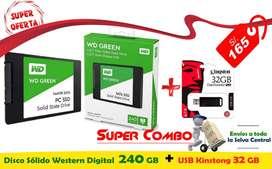 Ssd Solido Western Digital 240gb + usb kinstong 32 gb