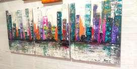 Hermosa pintura en oleo sobre lienzo nuevo yo los fabrico