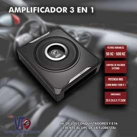 Amplificador 3 En 1 Con Woofer 300w Hf Audio Para Hyundai Mazda Kia Toyota Chevrolet Nissan