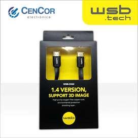 Cable HDMI WSB.tech 3 metros! CenCor Electrónica