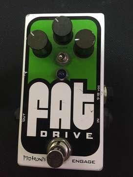Pigtronix Fat Pedal de efecto Distorsión para Guitarra