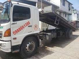 Servicio de Gruas Plataforma Remolque autocargable para camion pesado pesada auto montacarga tricimoto en Guayaquil