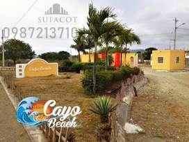 LOTES PLAYEROS 0987. 213710 | LOTES DE 200M2 A 5.700 USD, LOTIZACIÓN PRIVADA CAYO BEACH EN PUERTO CAYO, SOLO EFECTIVO S1