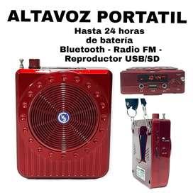 Radio Recargable Bluetooth Mp3 24 Horas Funcionamiento