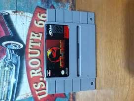 Juego Original para Consola Super Nintendo Snes Mortal Kombat Usado Clasico Retro