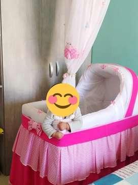 Moises bebe color rosa