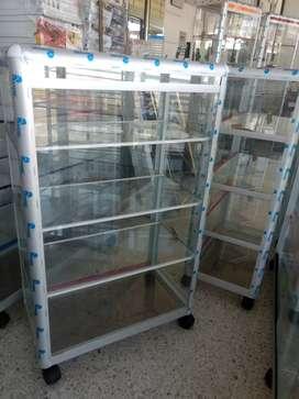 Vitrina mostrador en aluminio 60x100 nuevas