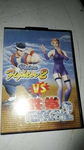 Cartucho de sega VIRTUA FIGHTER 2 VS TEKEN 2 usado