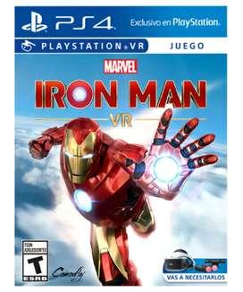 Juego PS4 IRON MAN VR nuevo!
