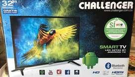 "NUEVO SMART TV CHALLENGER 32""."
