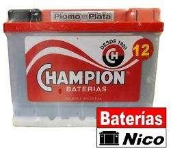 BATERÍA CHAMPION 12X70 (BERAZATEGUI-LA PLATA)