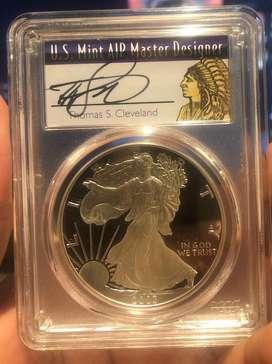 Moneda De Plata American Silver Eagle Proof 2003