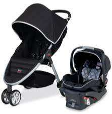 Coche Britax  B-Agile and B-Safe Travel System USADO, Black