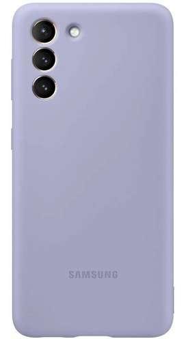 Case FUNDA Samsung SILICONE COVER Original @ Galaxy S21 Normal Lavanda