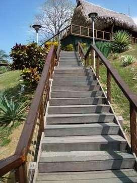 escaleras en madera plastica