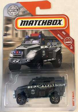 Matchbox MBX S.W.A.T. Gray 59/100 MBX Rescue 4/20 Toy Truck Vehicle Armored Die Cast 1:64 Scale