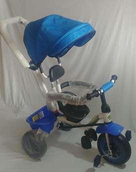 Triciclo Con Sombrilla/asiento Giratorio De Lujo
