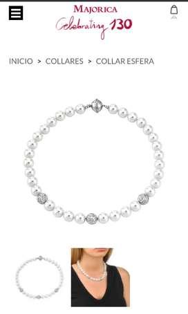 Collar majorica de perlas original