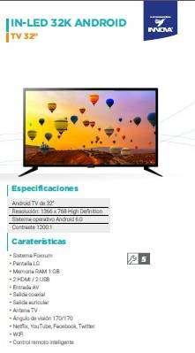 "TV 32"" INNOVA ANDROID"