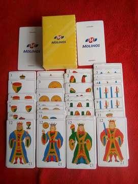 mazo de naipes españoles plásticos publicidad molinos