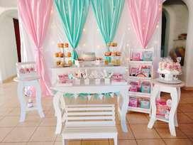 Candy bar, mesas y decoracion !!