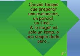 CLASES DE CONSULTA - SECUNDARIOS - UNIVERSITARIOS - Ingr. UNIVERSIDAD