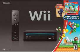 Nintendo wii + 2 controles con nunchuk + 4 juegos.