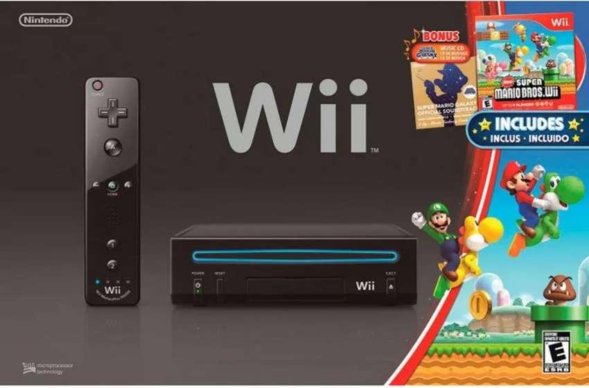 Nintendo wii + 2 controles con nunchuk + 4 juegos. 0