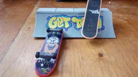 Skates de Tech Deck 2 con Una Rampa