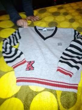 Super abrigado suéter escote en v.