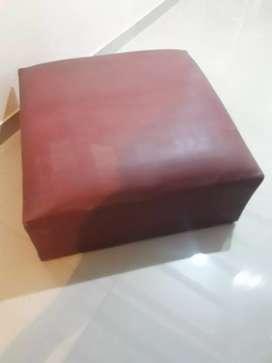 Camastro puff cuadrado ecocuero de 80×80 x40