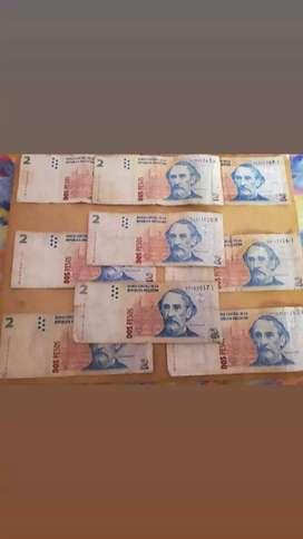 Billetes de $2 argentinos